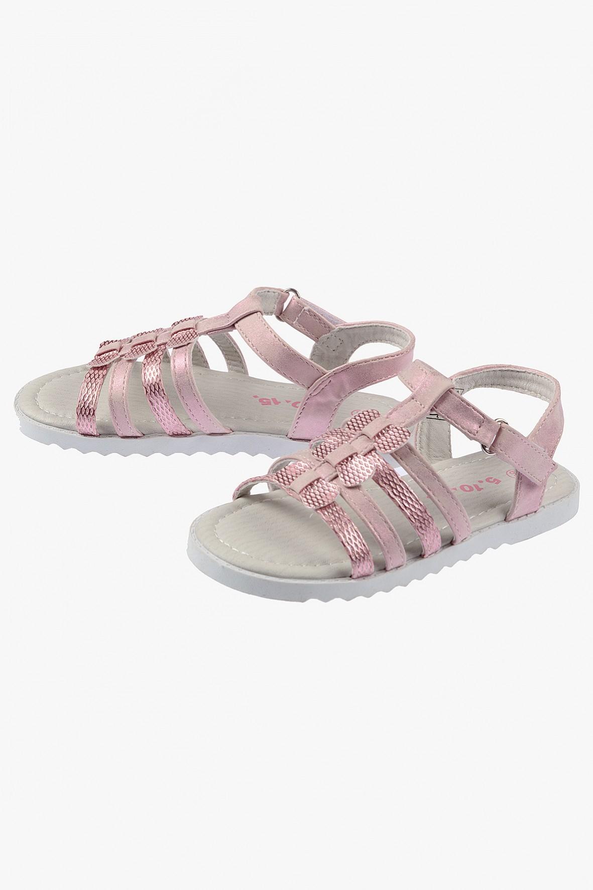 Sandałki dziewczęce różowe