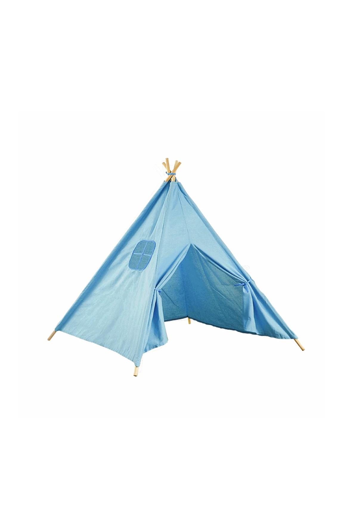 Namiot domek Teepee- niebieski