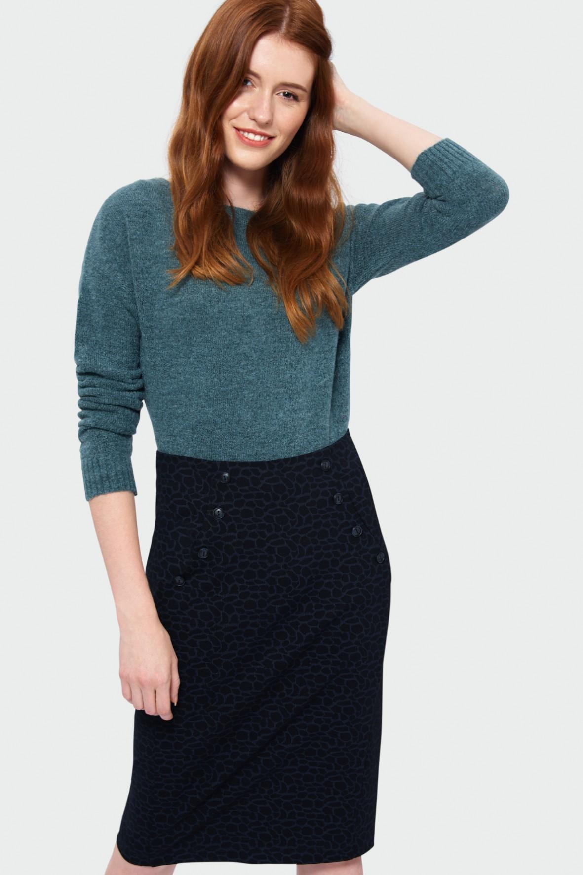 Sweter damski o luźnym kroju - zielony