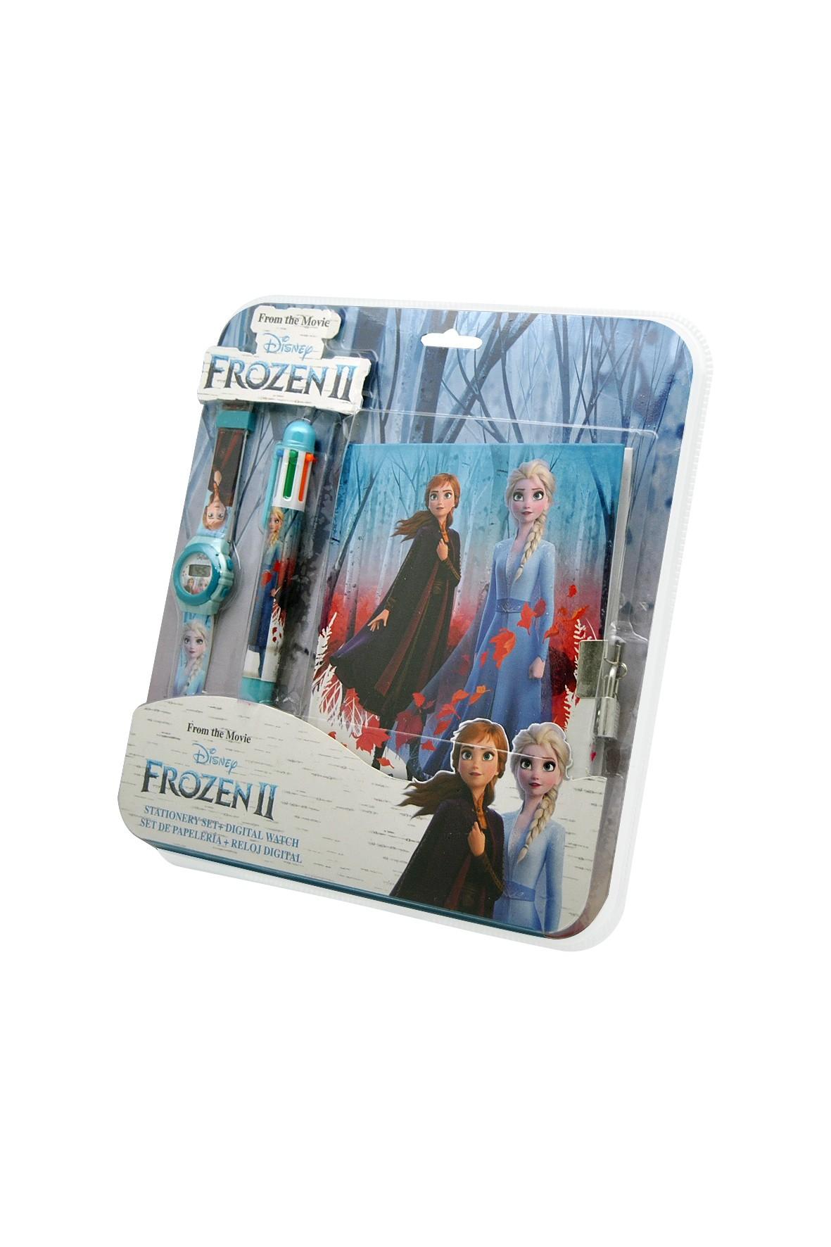 Zestaw Frozen z cyfrowym zegarkiem , długopisem  i pamiętnikiem