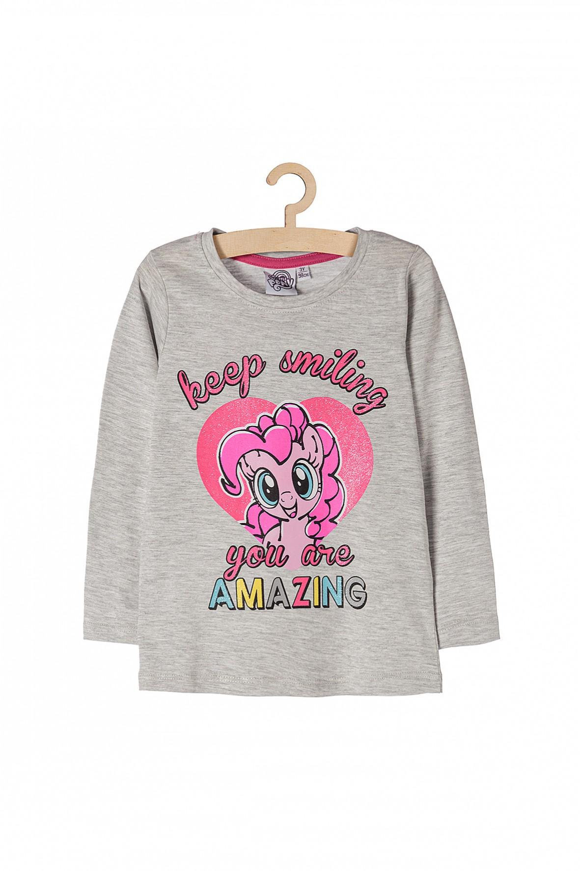 Bluzka dziewczęca szara Pony