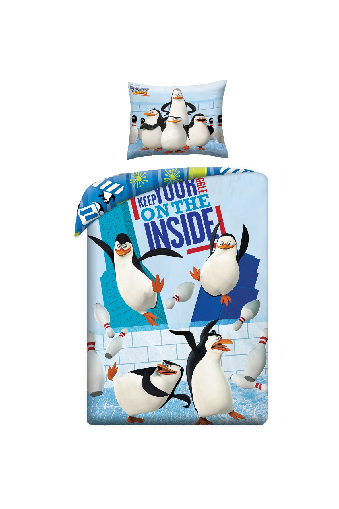 Pościel Pingwiny z Madagaskaru 1Y35E1