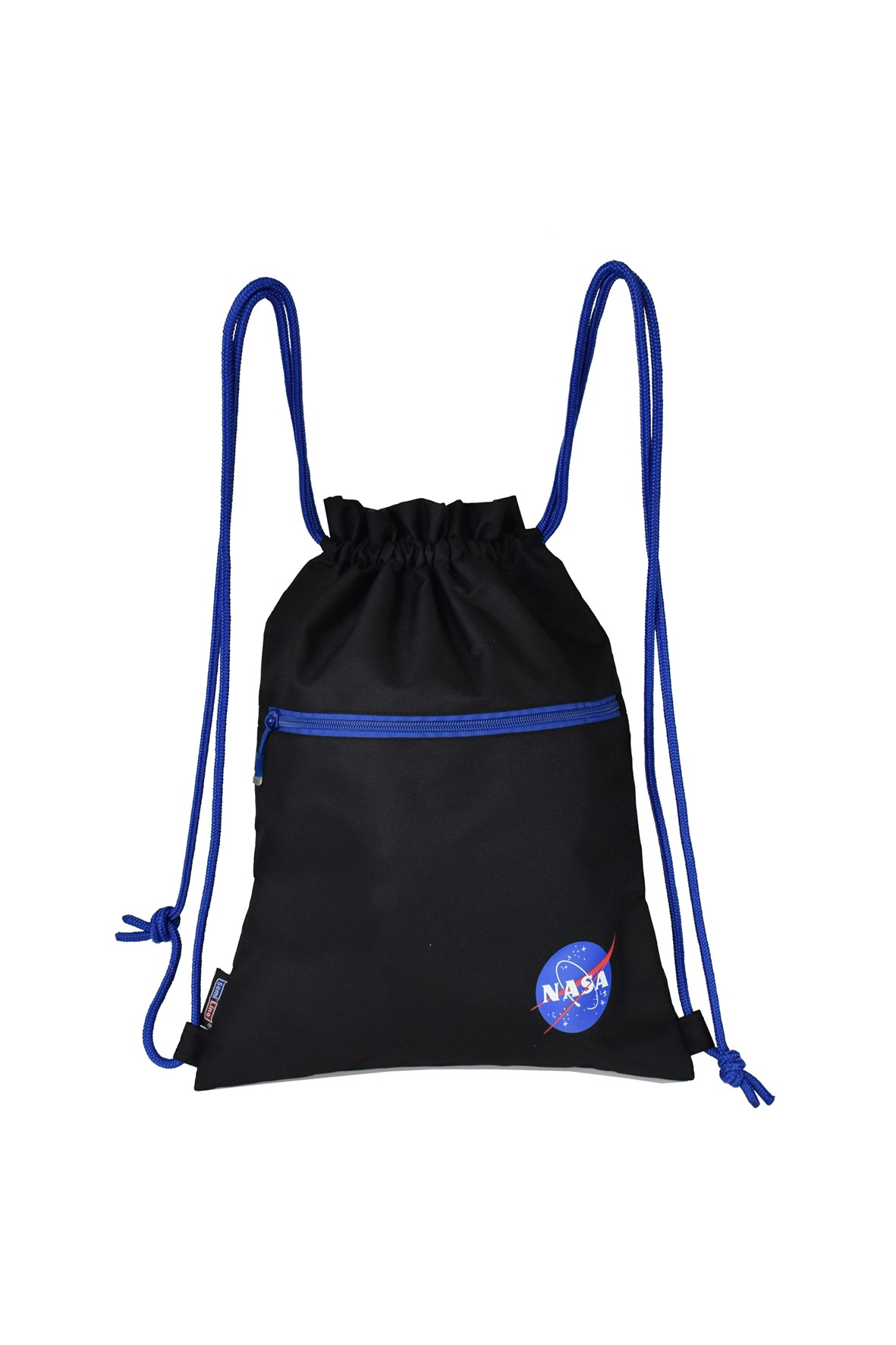 Czarno-niebieski worek NASA 44x33cm