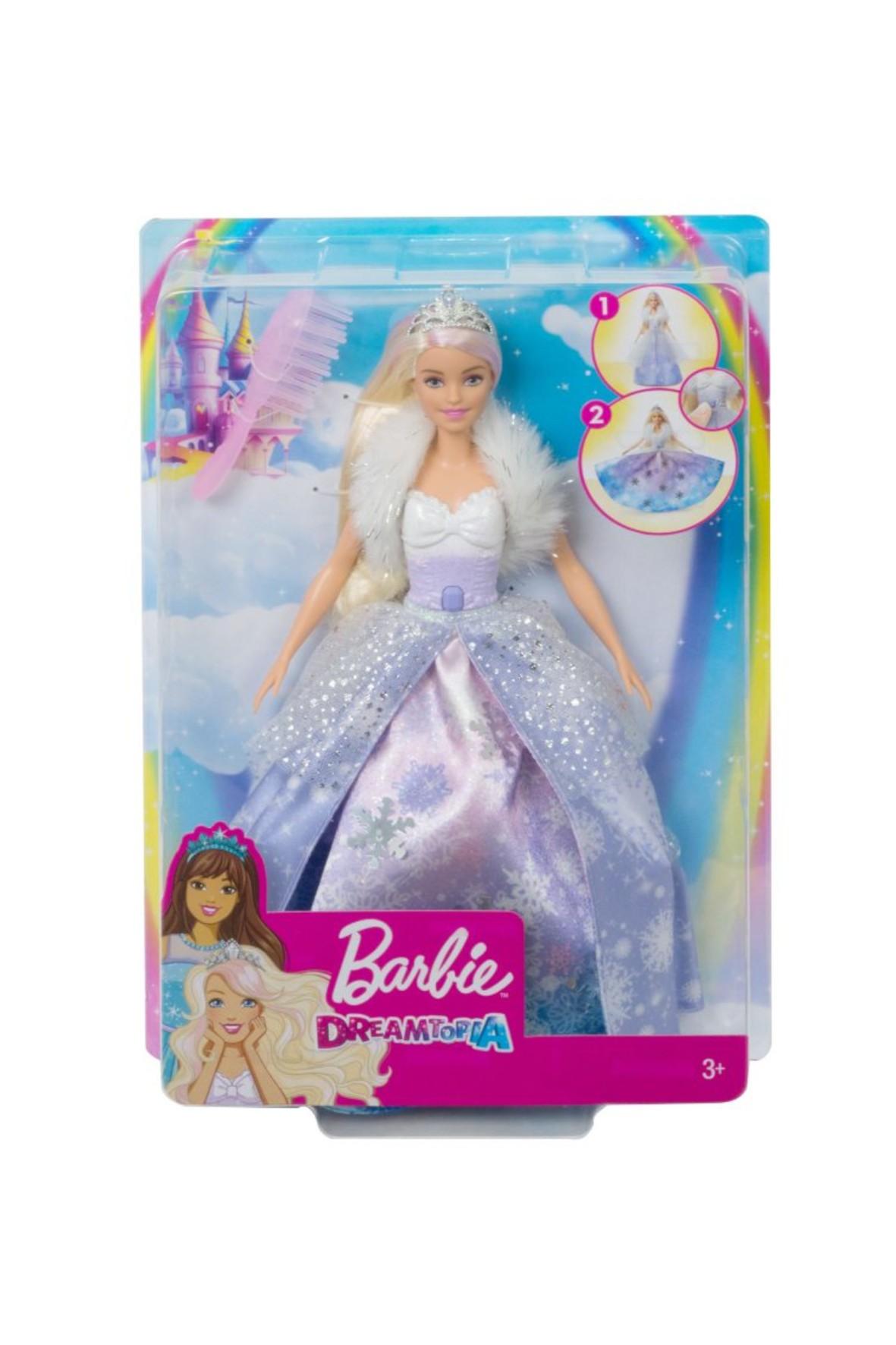 Barbie Dreamtopia - Lalka Księżniczka Lodowa Magia wiek 3+