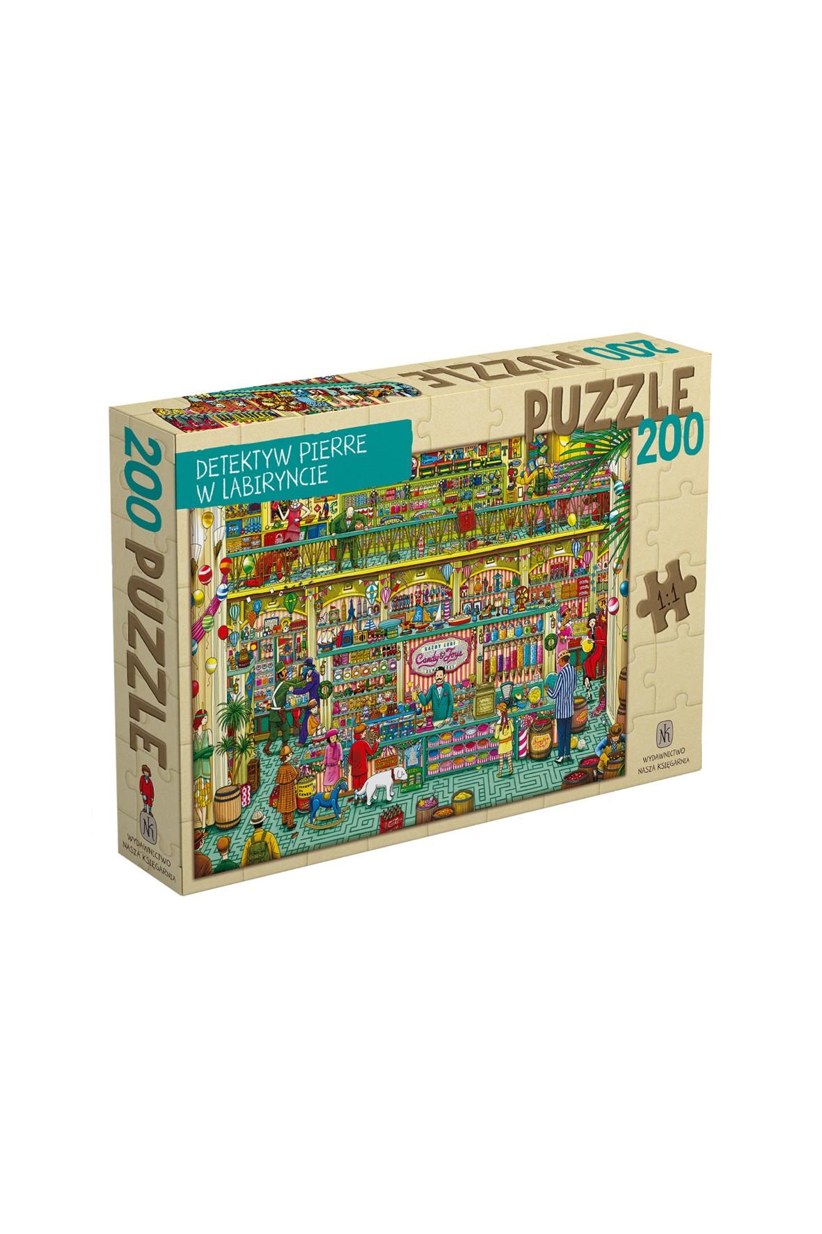 Puzzle Detektyw Pierre w labiryncie- 200el