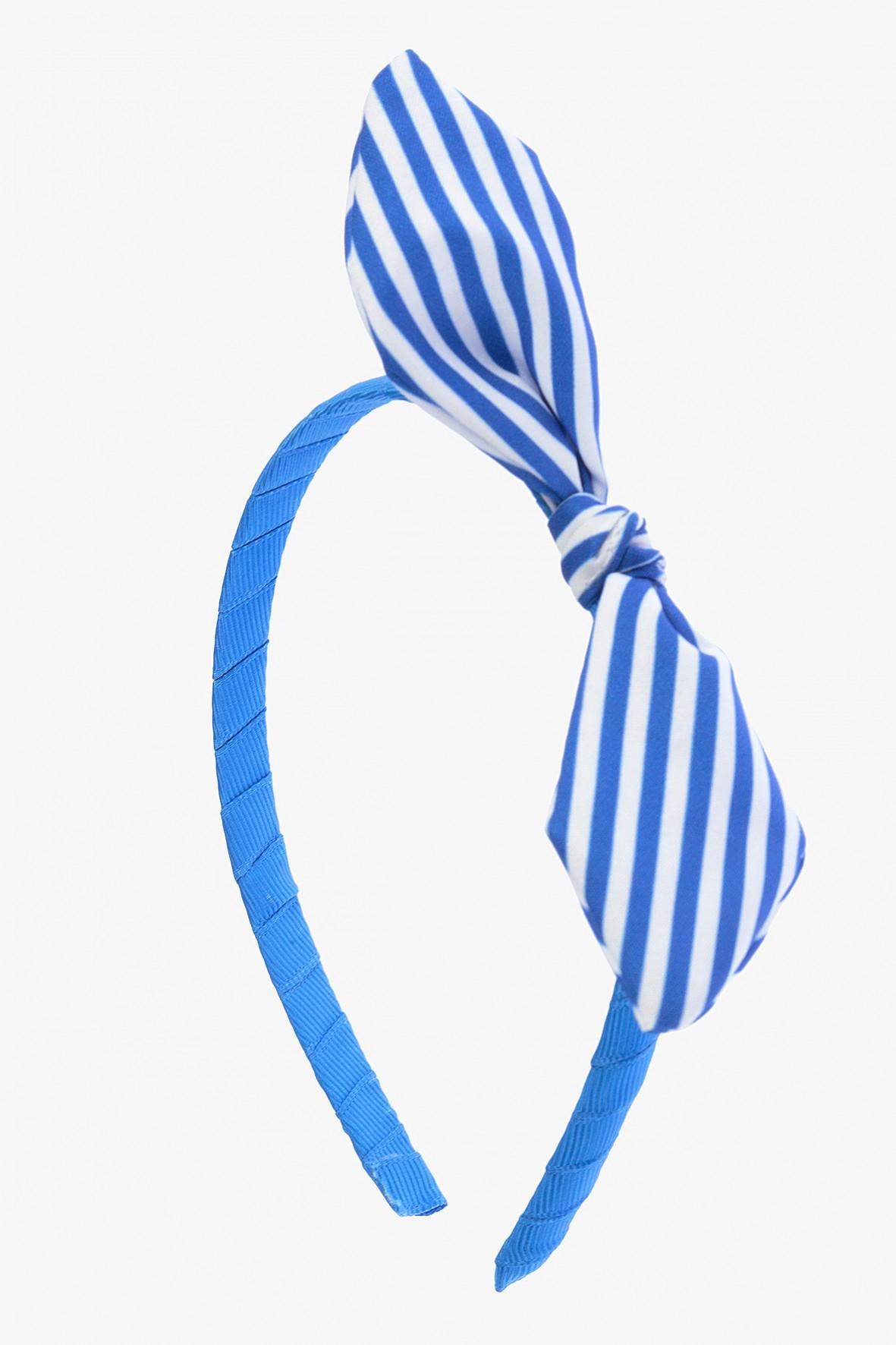 Opaska na włosy niebieska z kokardką