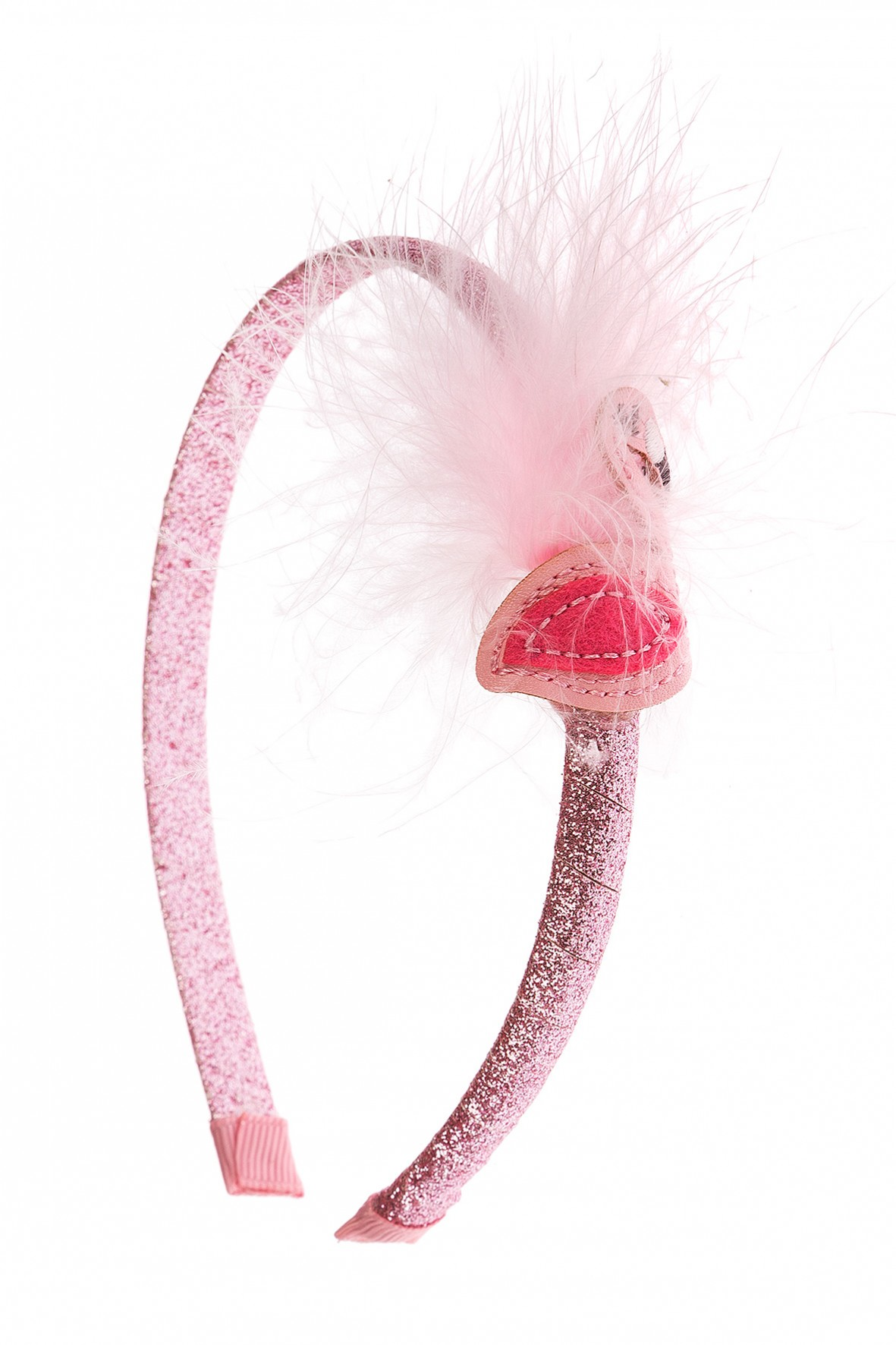 Opaska do włosów-różowa