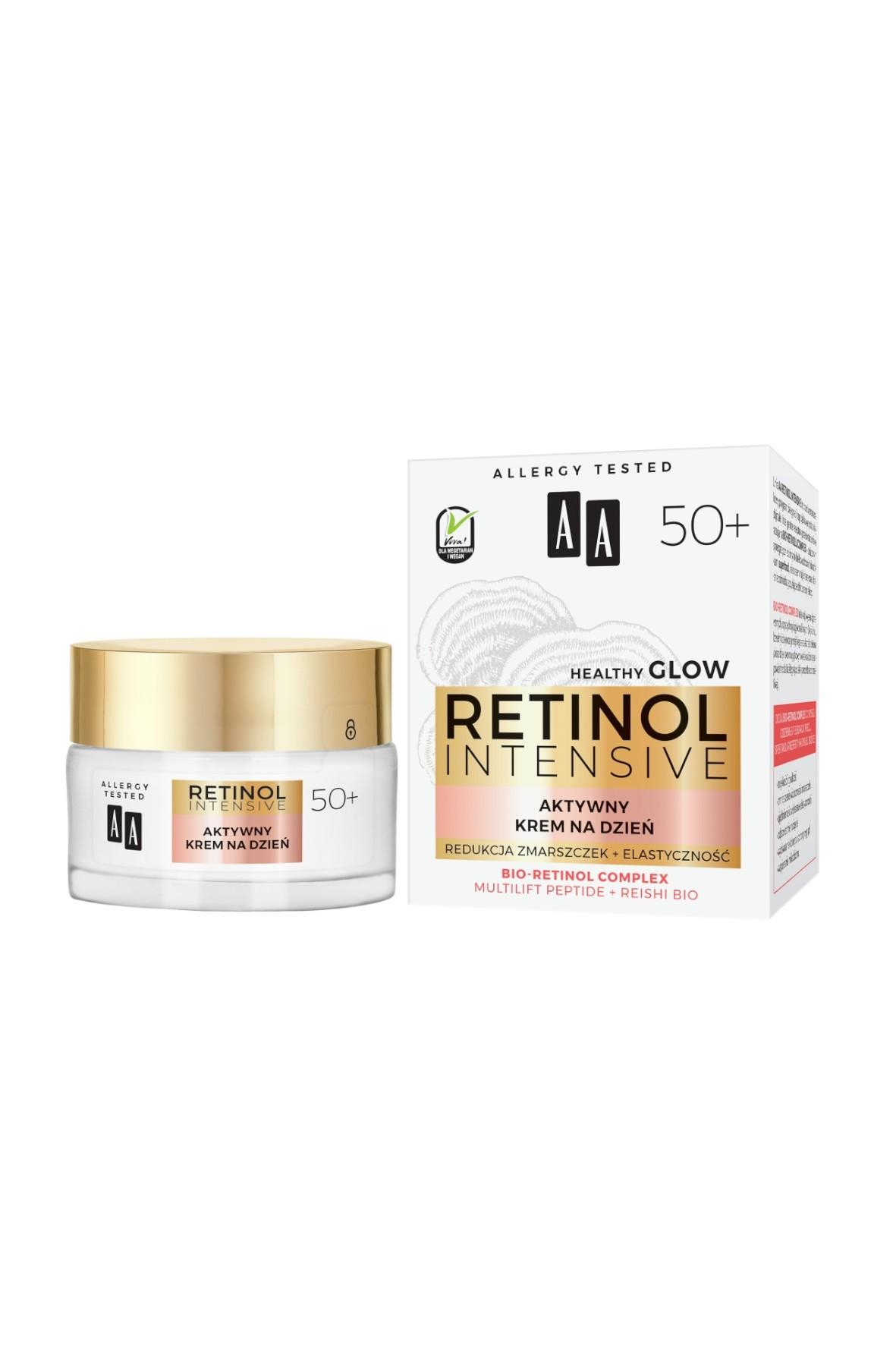 AA Retinol Intensive 50+ aktywny krem na dzień redukcja zmarszczek+elastyczność 50 ml