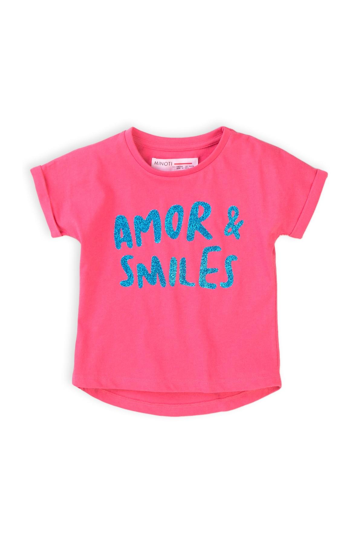 T-shirt dziewczęcy z napisem Amor Smiles
