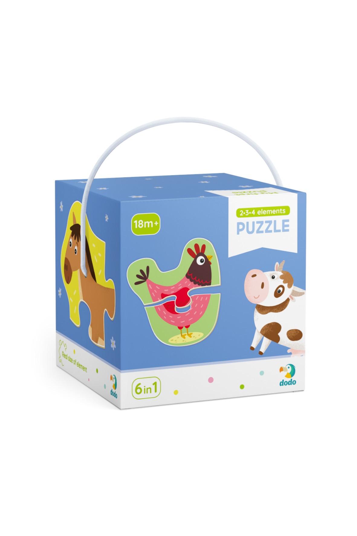 Puzzle 2-3-4 Elementy Domowe zwierzęta