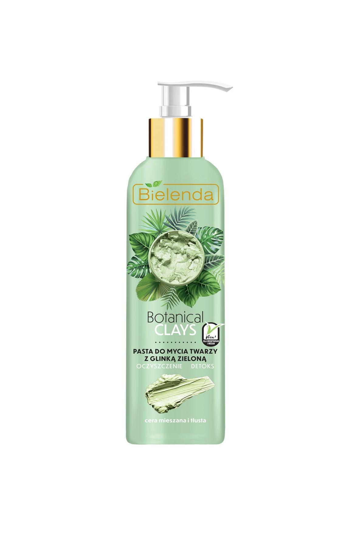 BOTANICAL CLAYS Wegańska pasta do mycia twarzy z glinką zieloną  -190 g