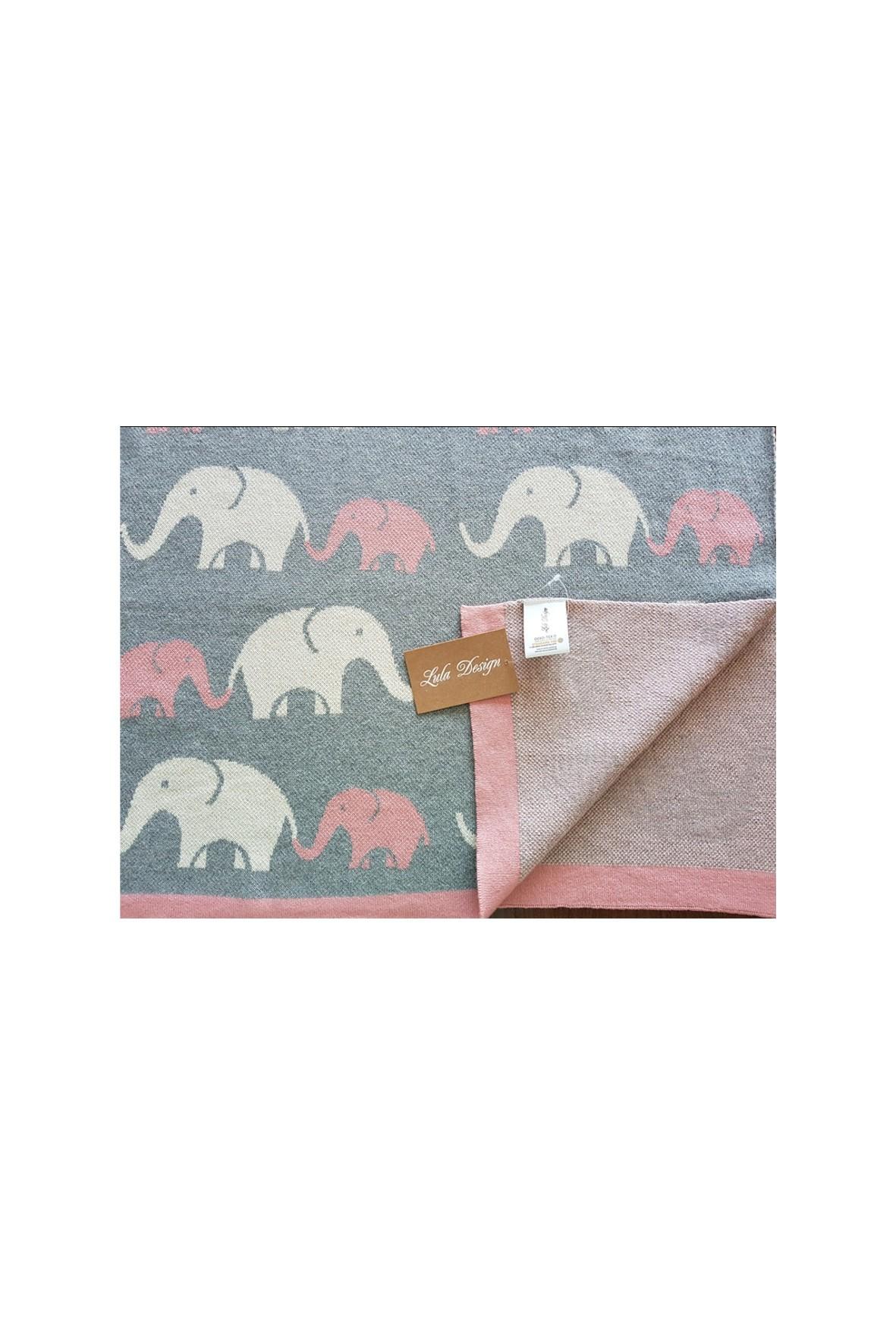 Kocyk niemowlęcy Kolorowe Słonie