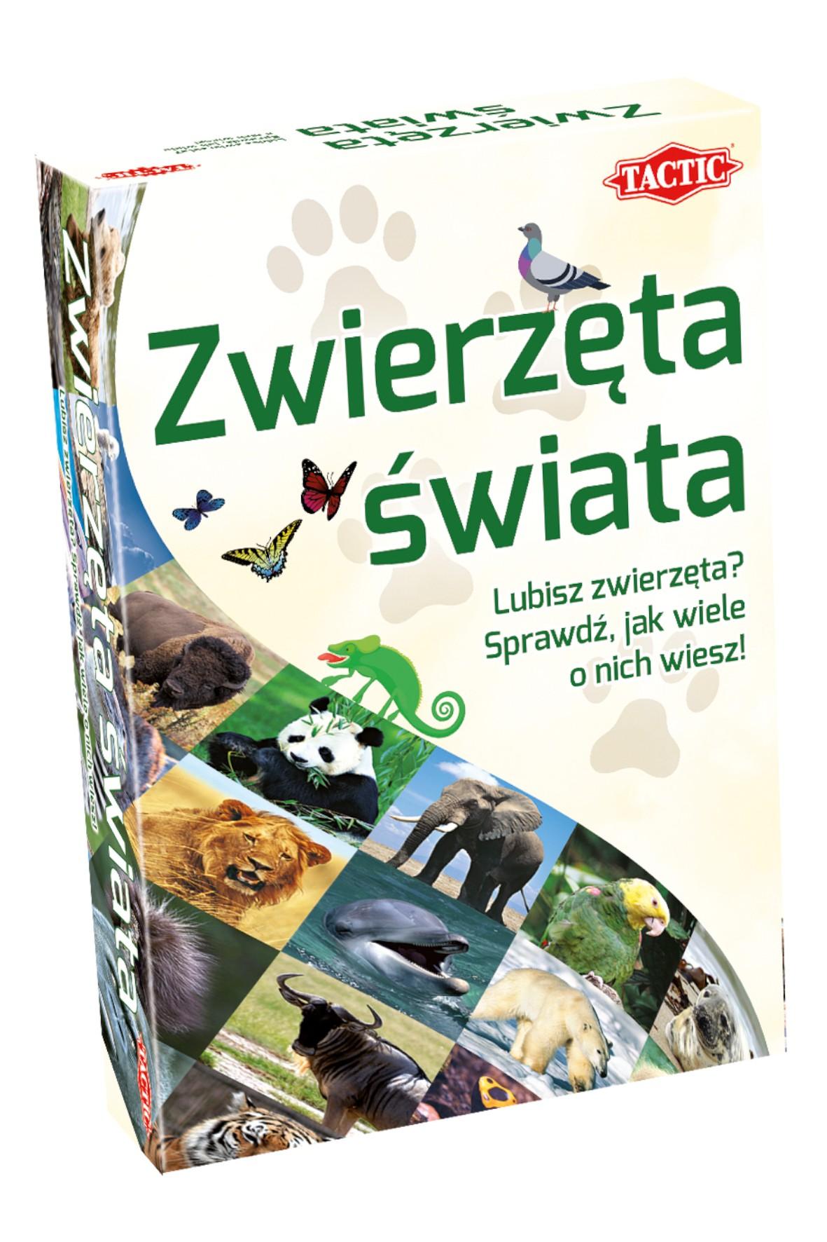 """Gra planszowa """"Quizy Świata Zwierzęta Świata"""""""