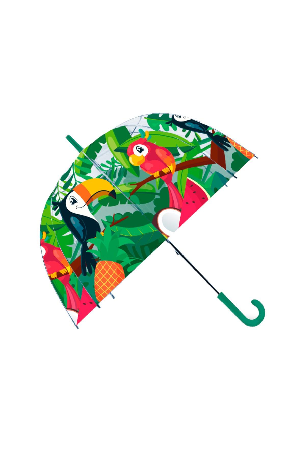 Parasolka przezroczysta manualna Tukany