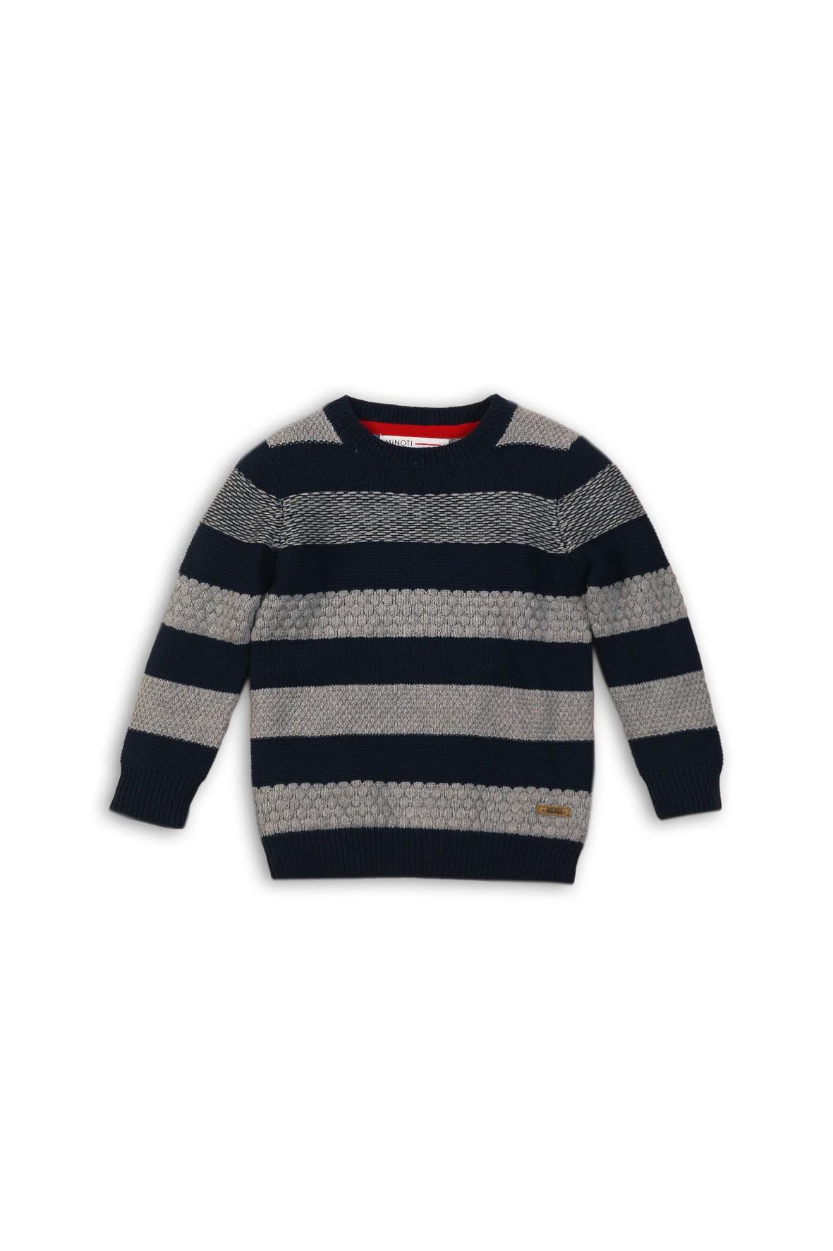 Sweter chłopięcy szary w czarne paski