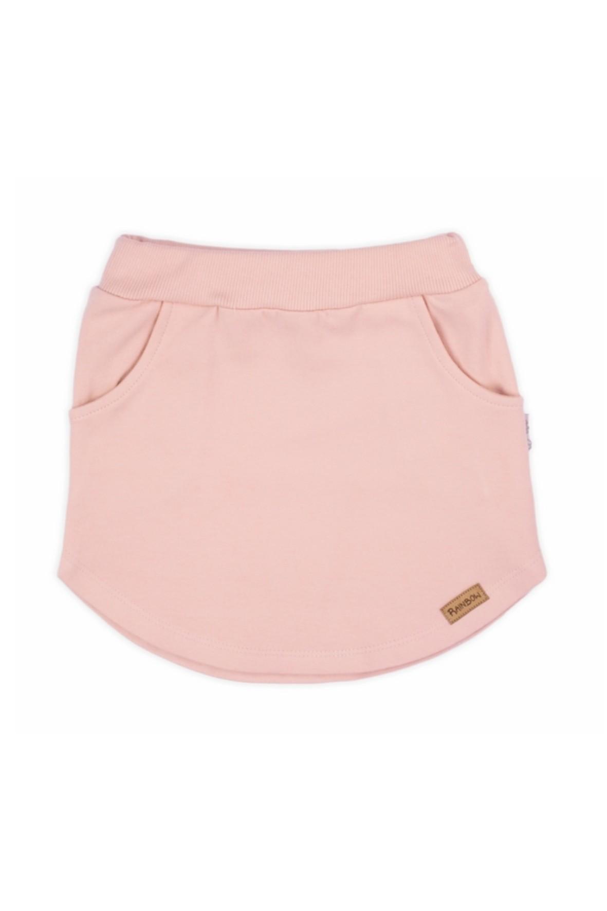 Spódniczka dresowa-różowa
