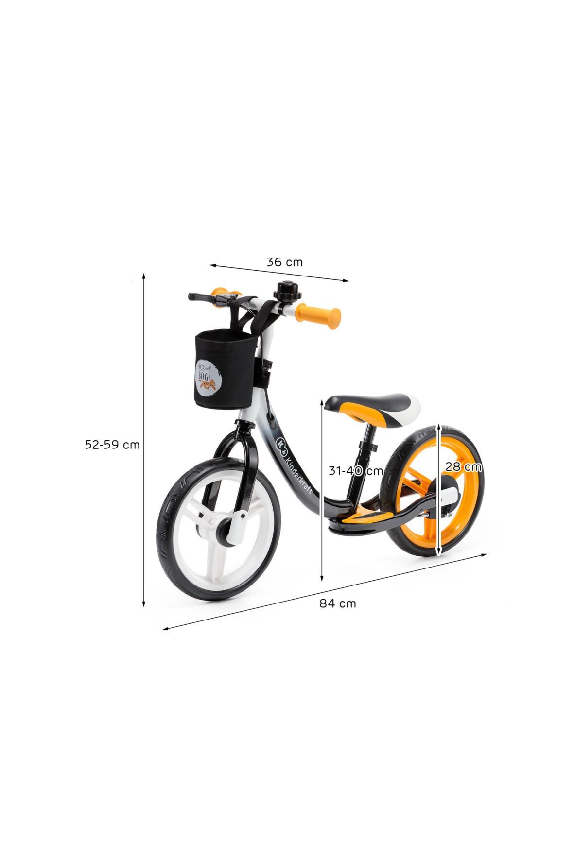 Rowerek biegowy Space pomarańczowy Kinderkraft