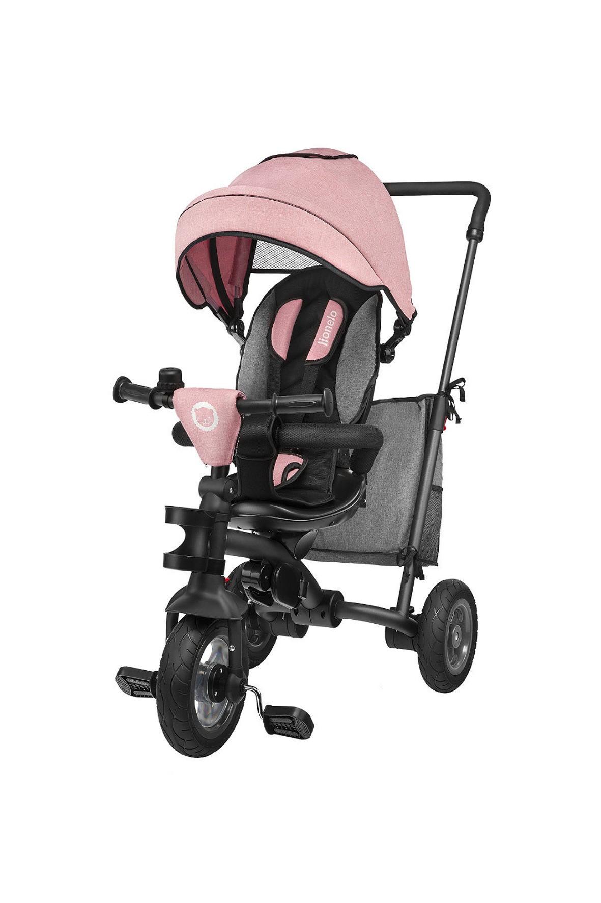 Rowerej Trójkołowy Lionelo Tris Candy - różowo-szary