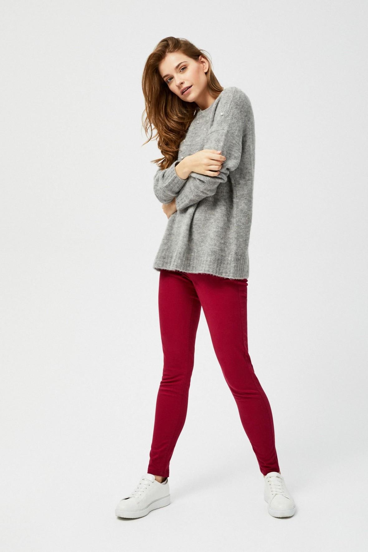 Bortowe spodnie damskie- slim