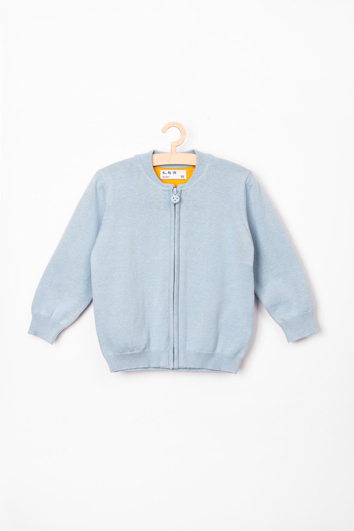 Sweter niemowlęcy rozpinany niebieski