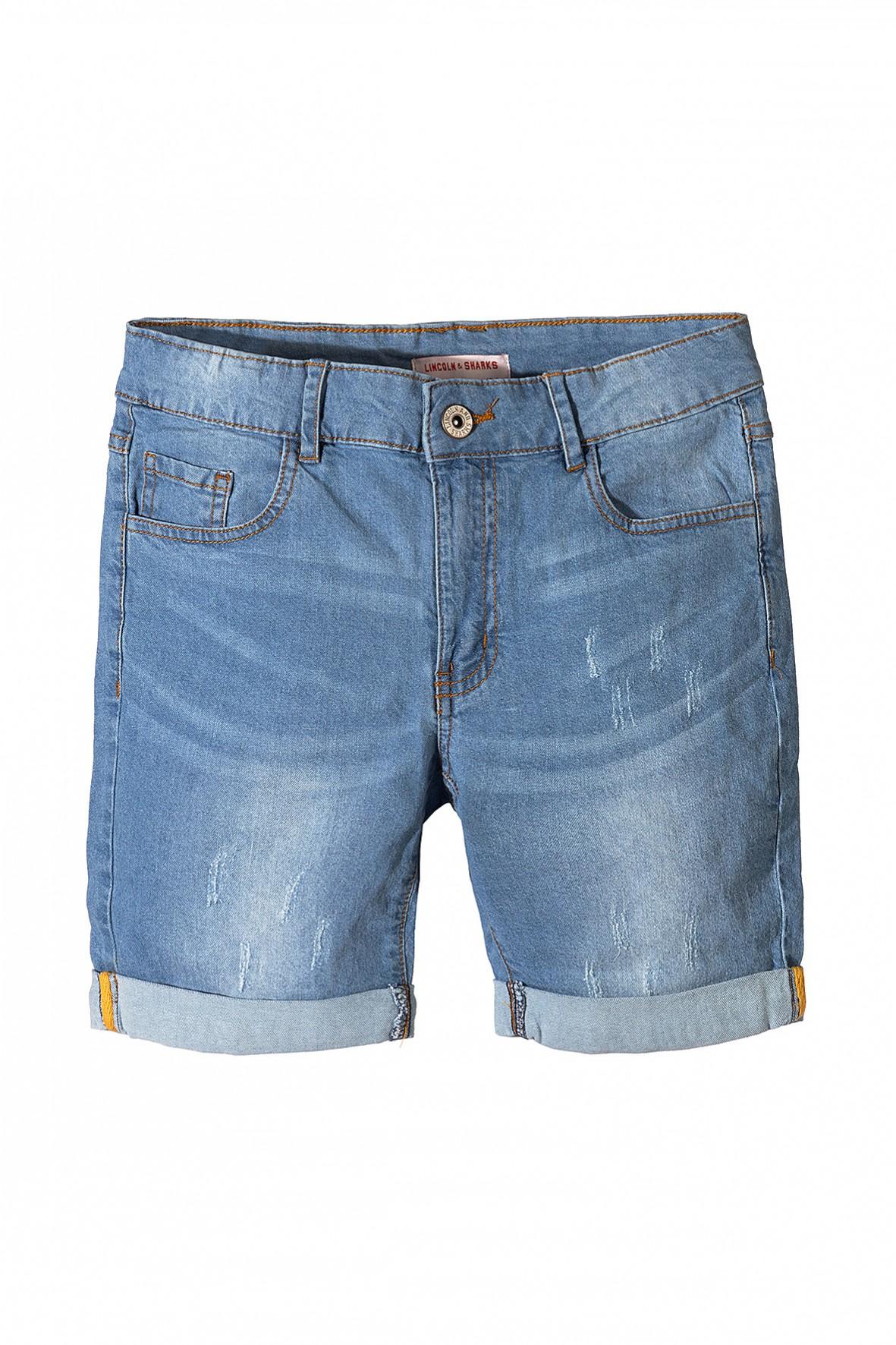 Jeansowe spodenki dla chłopca-niebieskie