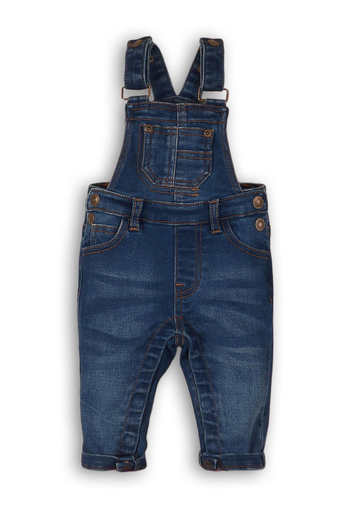 Spodnie ogroniczki dla chłopca- niebieskie