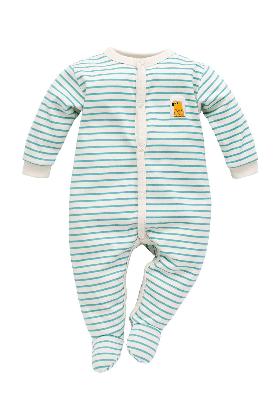 Pajac niemowlęcy w paski Nice Day- 100% bawełna