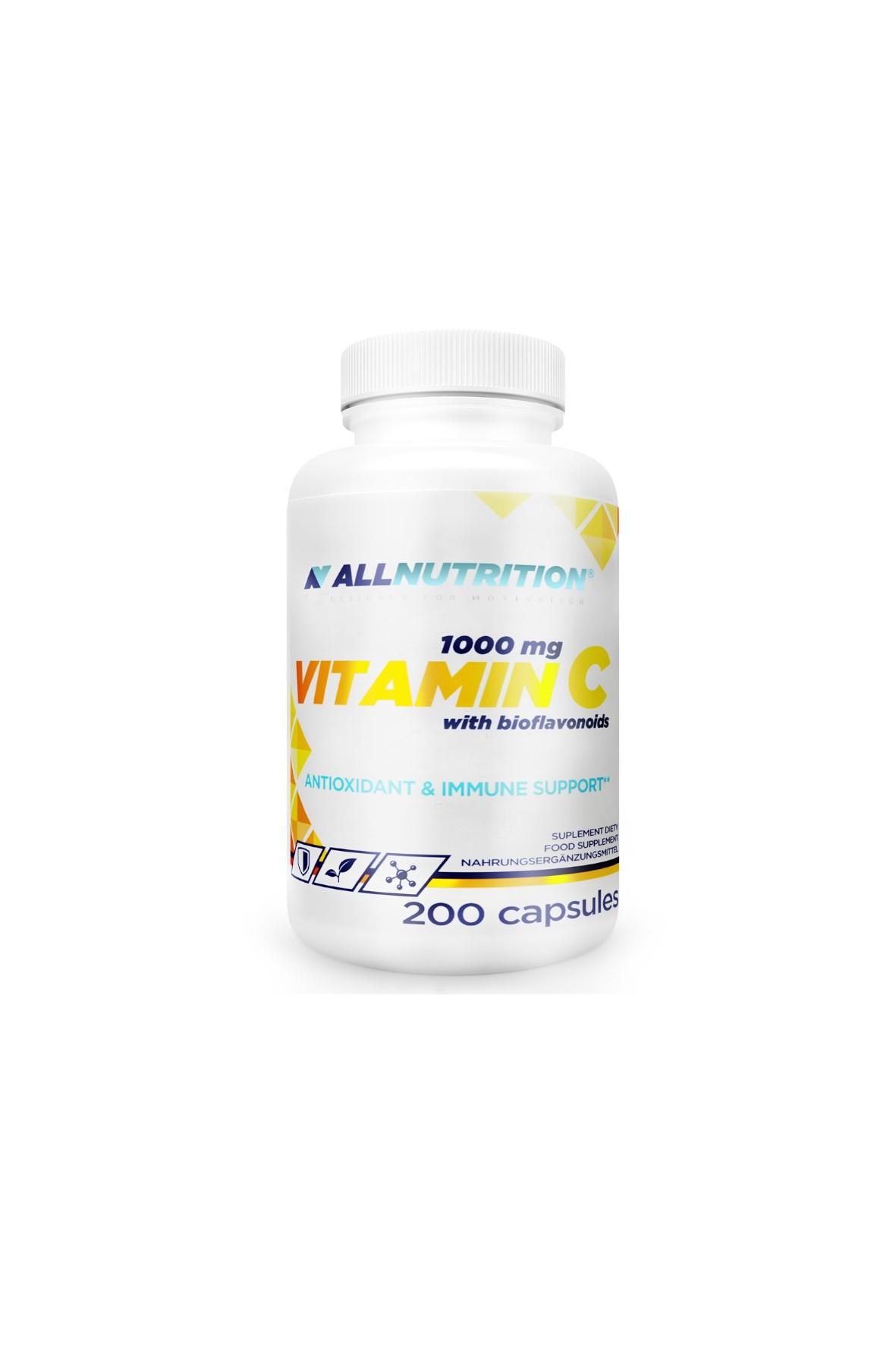 Suplementy diety - Allnutrition Witamina C z bioflawonoidami  - 200 kapsułek