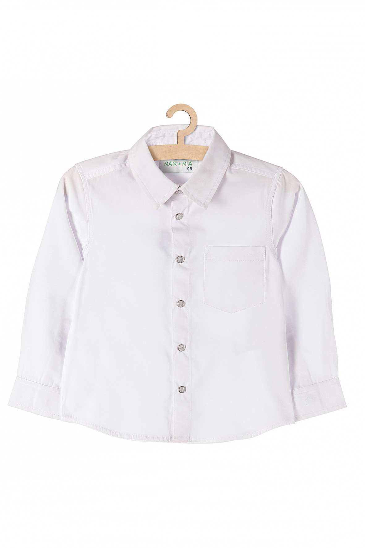 Koszula chłopięca na specjalne okazje-biała z długim rękawem