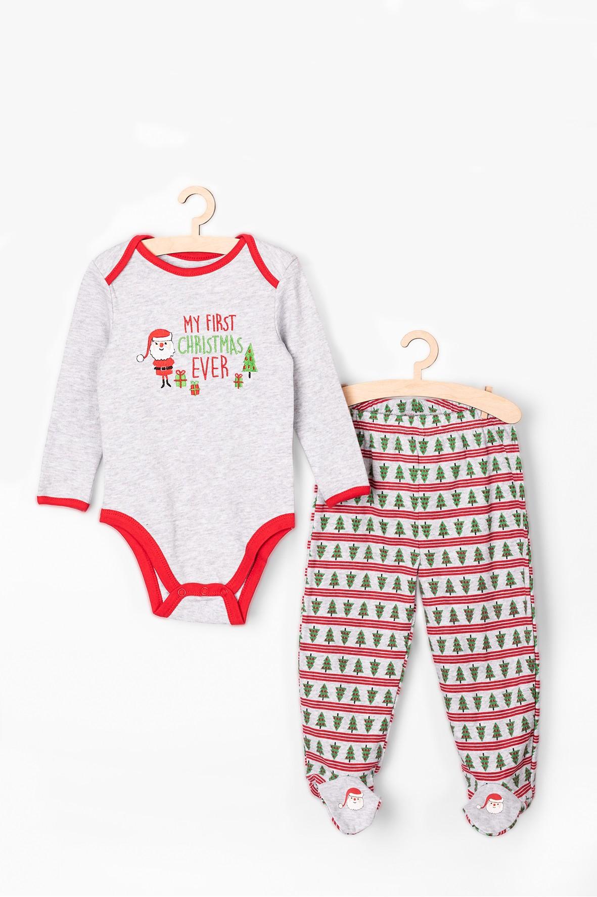 Komplet ubrań świątecznych dla niemowlaka