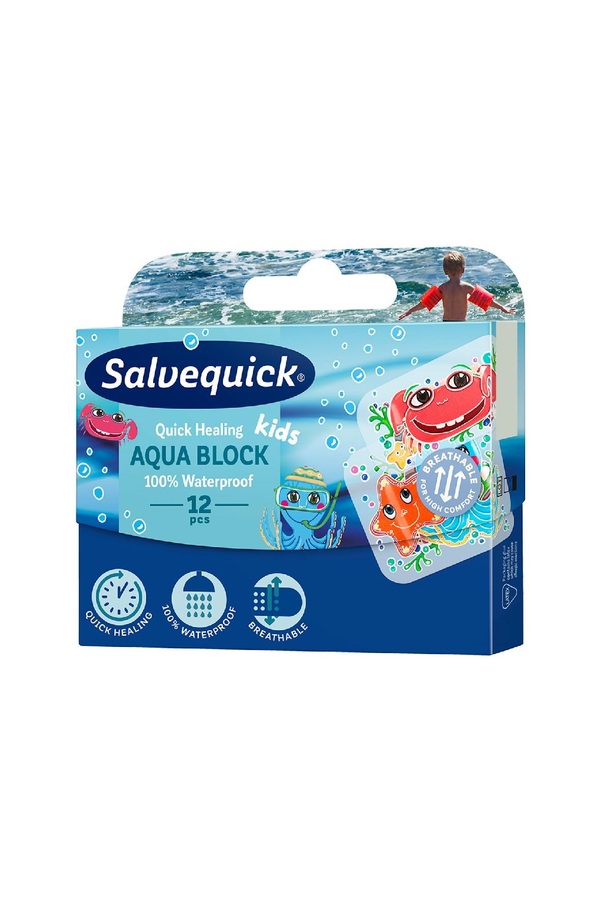 Salvequick plastry wodoodporne dla dzieci 12 szt.