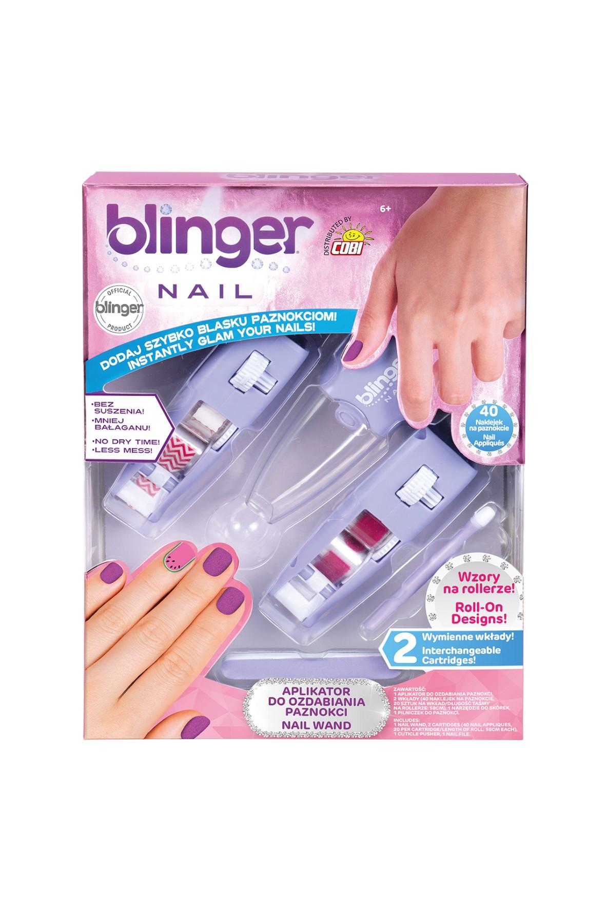 Blinger – Zestaw do ozdabiania paznokci róż wiek 6+