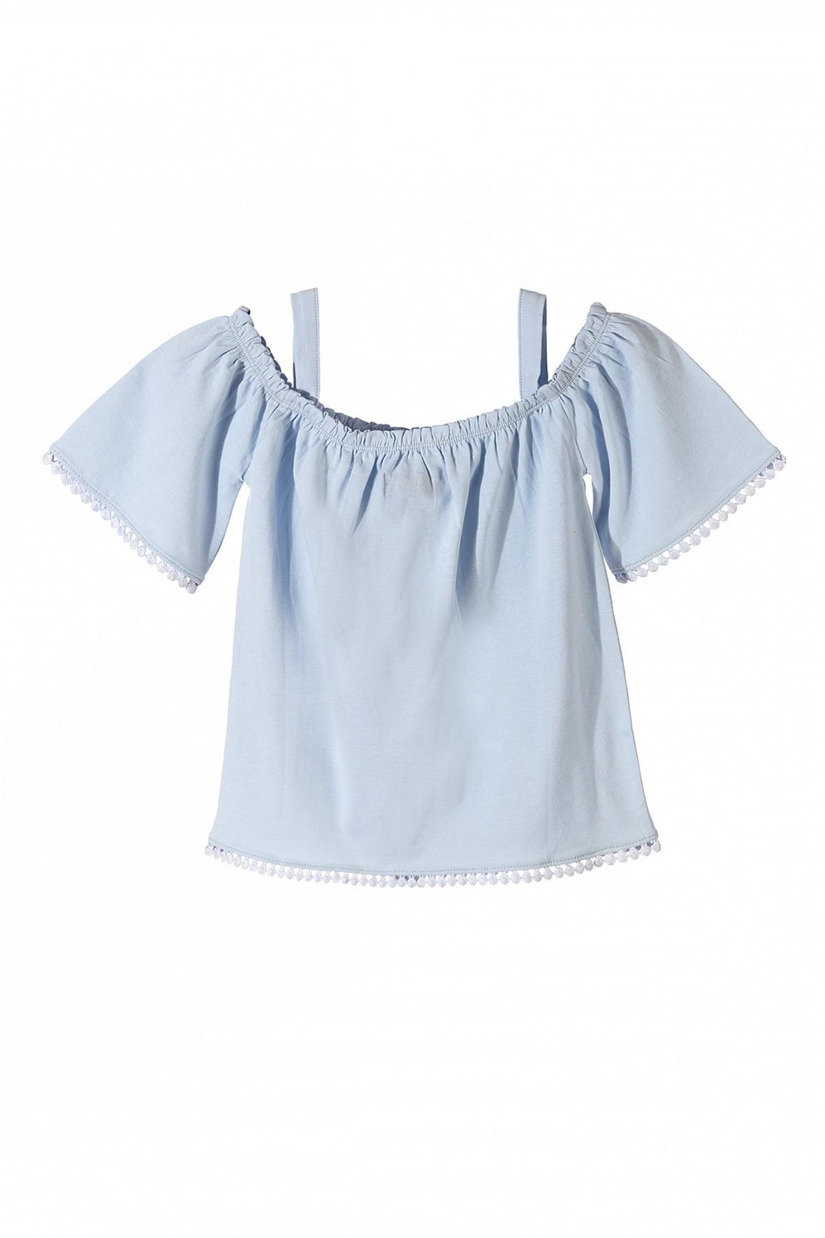 Bluzka dziewczęca niebieska na ramiączka