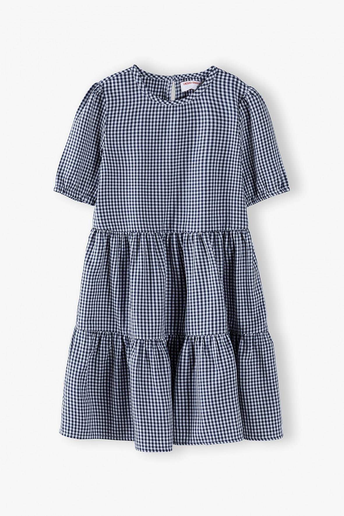 Sukienka dziewczęca w kratę
