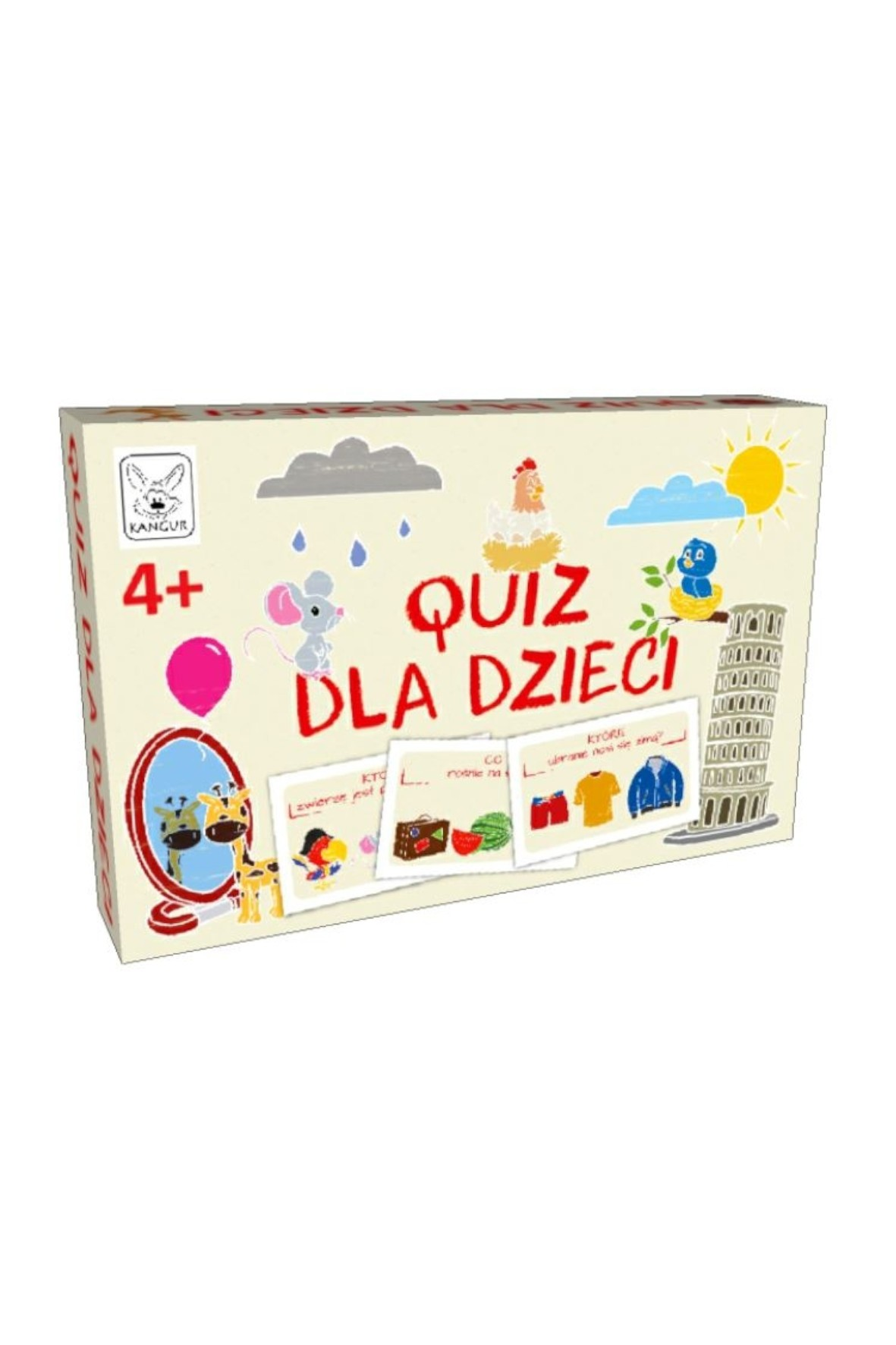 Gra dla dzieci - Quiz dla dzieci  wiek 4+