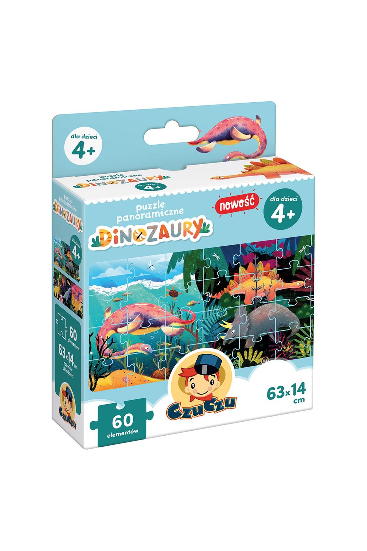 Puzzle panoramiczne CzuCzu Dinozaury wiek 4+