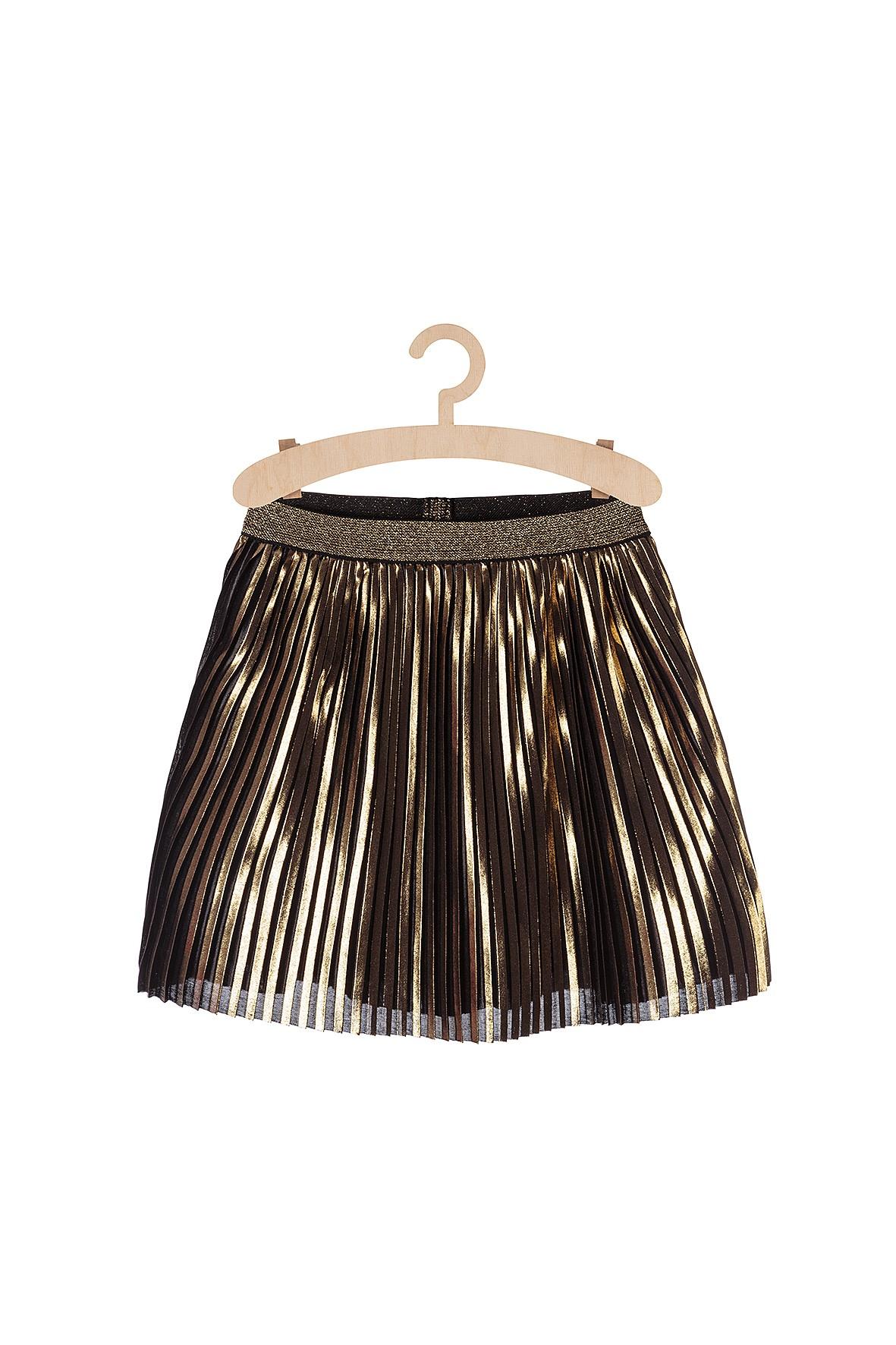Spódnica dziewczęca złota plisowana
