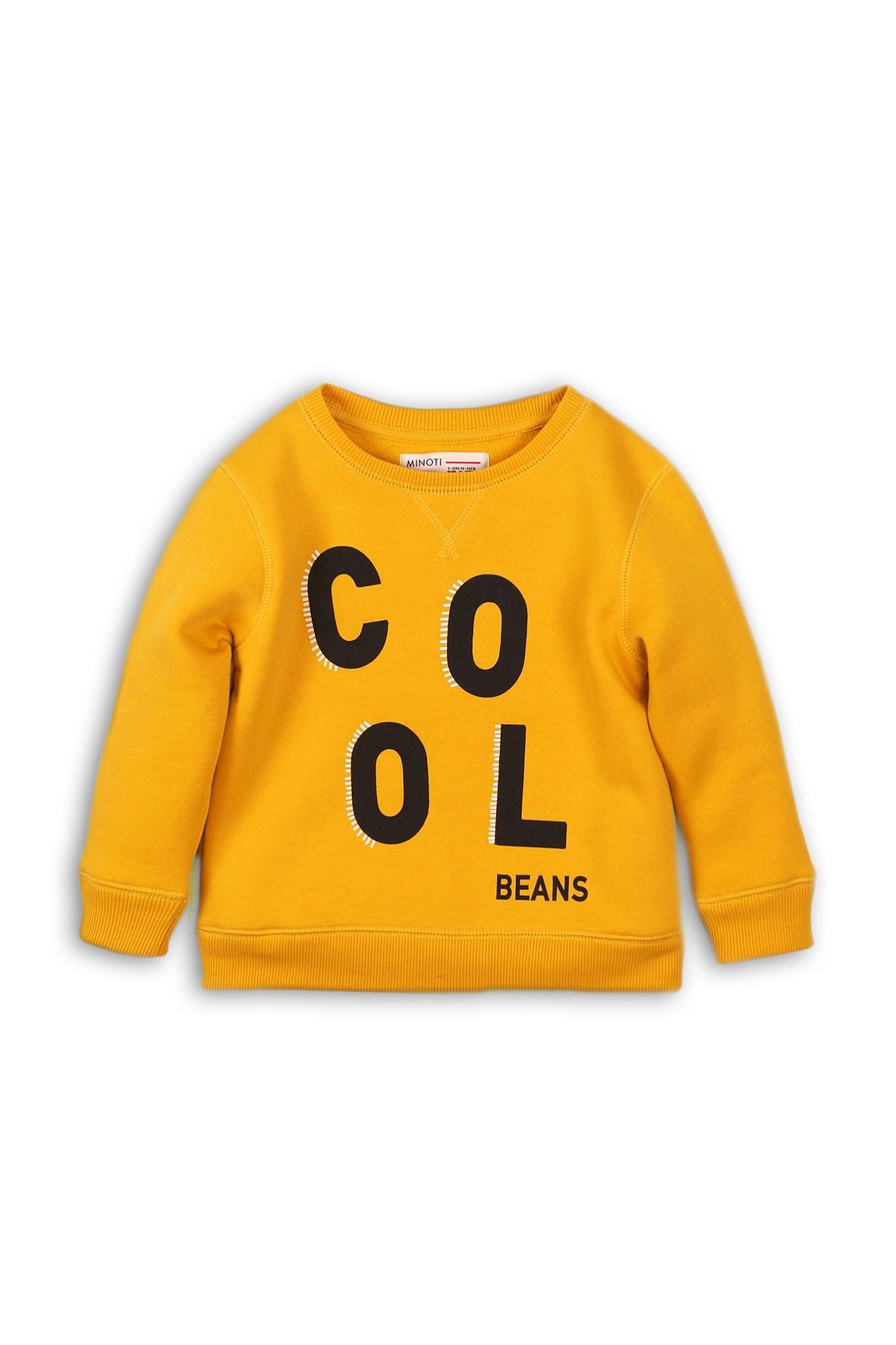 Dresowa bluza - żółta z napisem Cool rozm 92/98