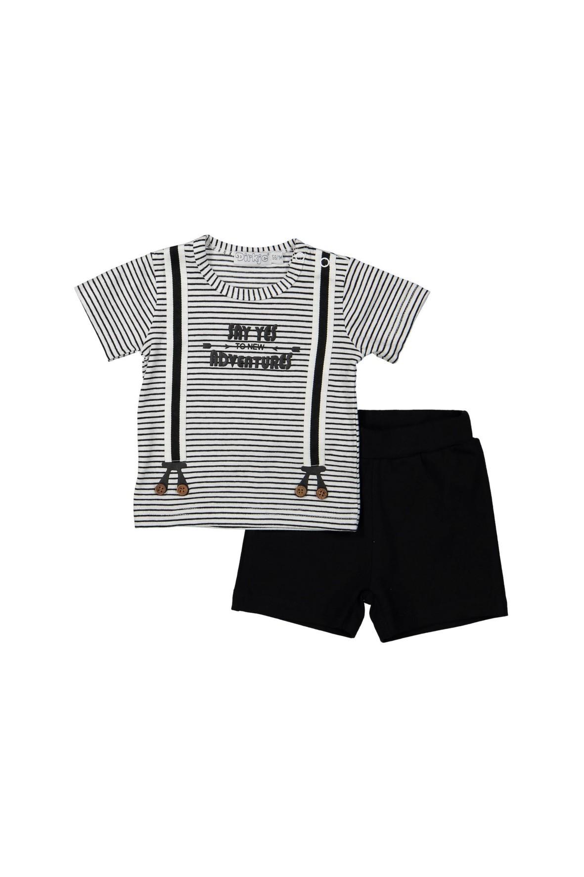 Komplet niemowlęcy t-shirt i dzianinowe spodenki