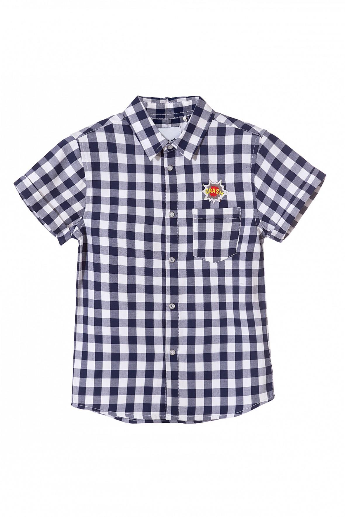 Koszula chłopięca w biało-granatową kratę