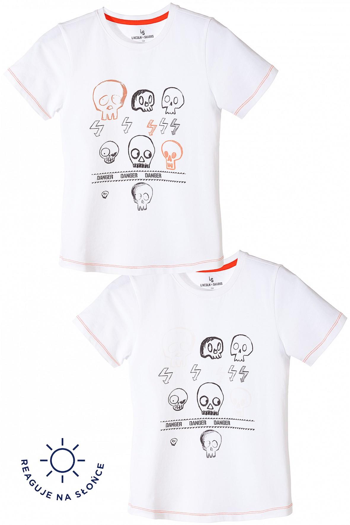 T-shirt dla chłopca-zmienia nadruk pod wpływem promieni słonecznych