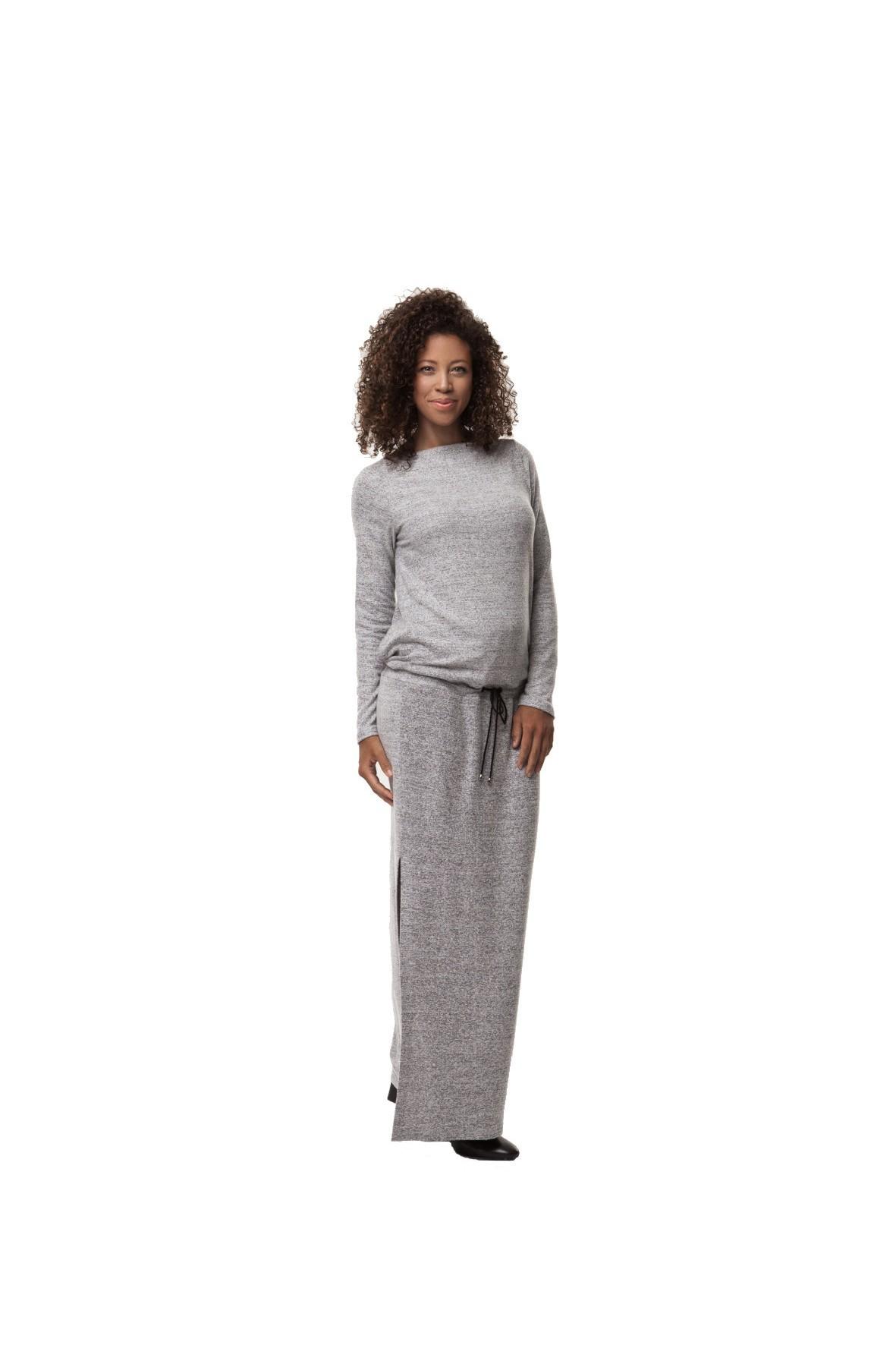 Sukienka Ciążowa Winter Maxi Grey