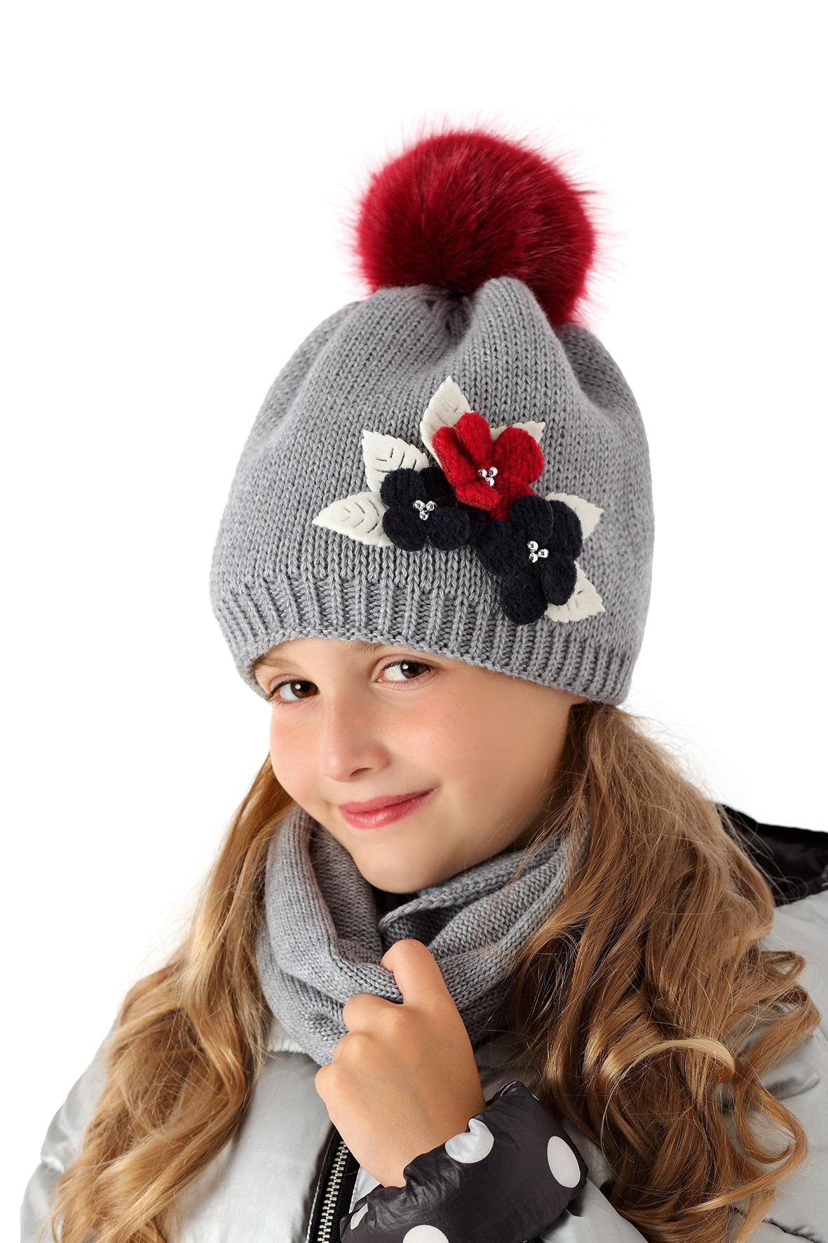 Вязания теплых шапочек для девочки