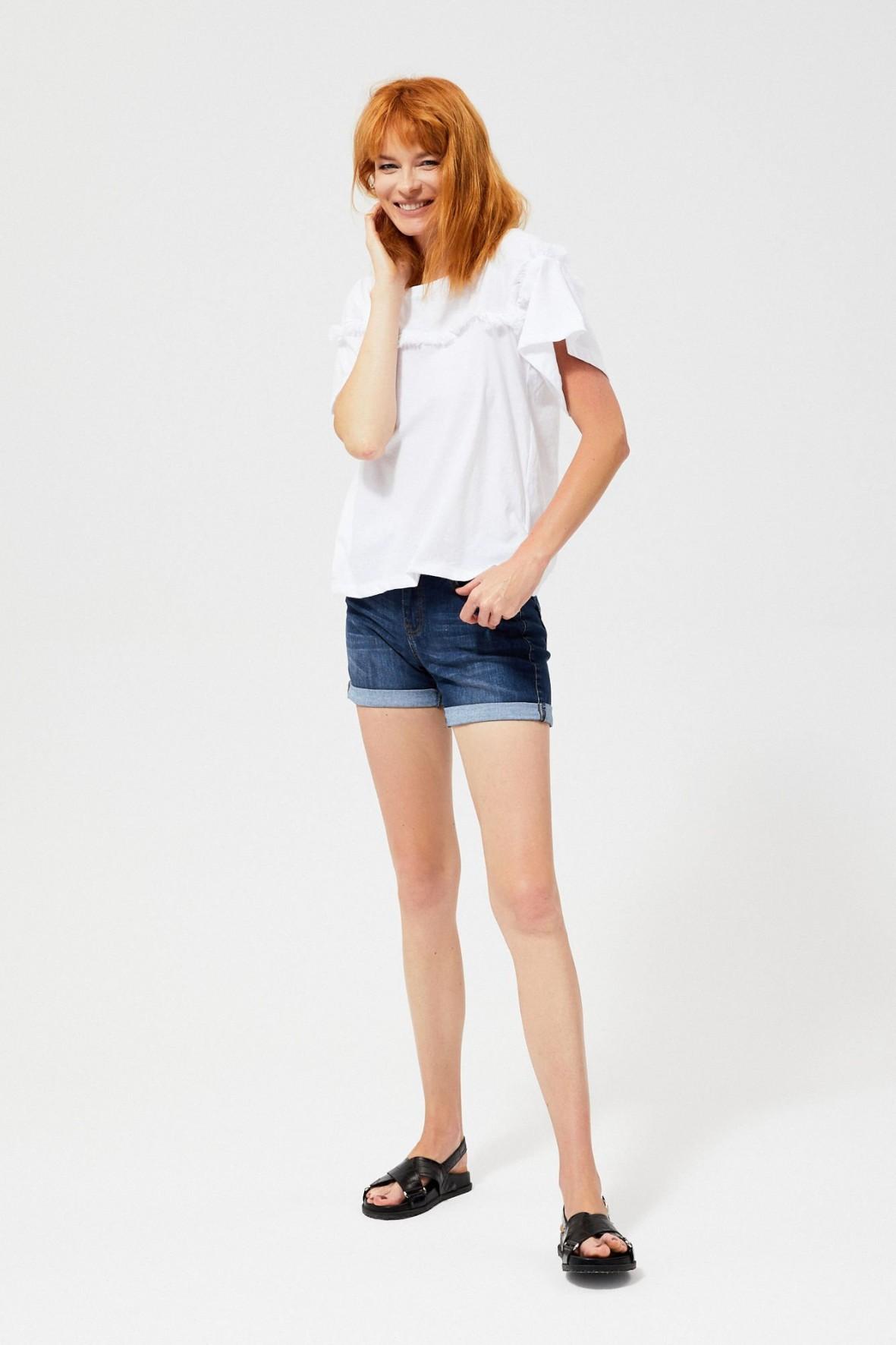 T-shirt damski bawełniany w kolorze białym
