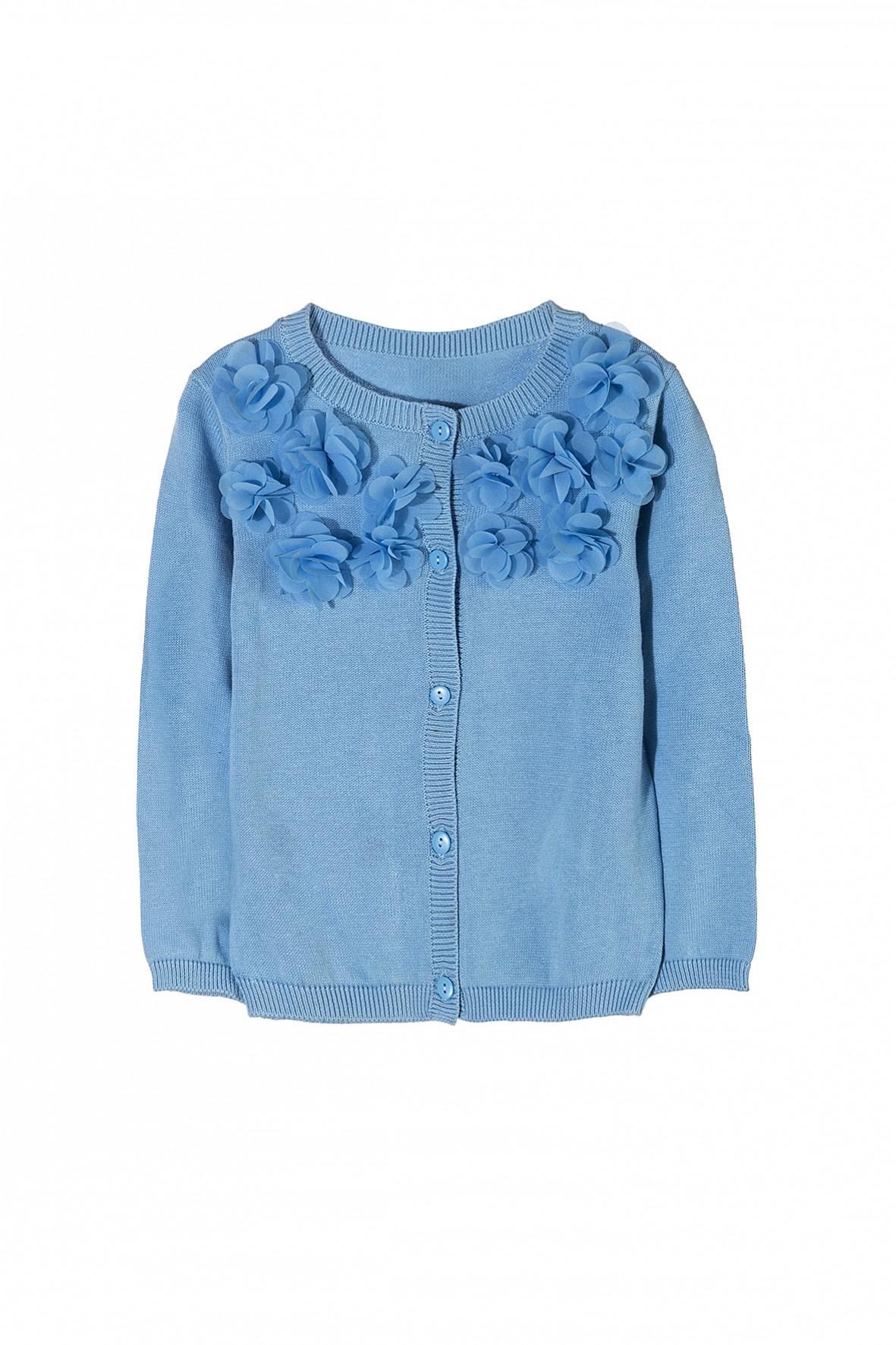 Elegancki sweter dziewczęcy zapinany na guziki