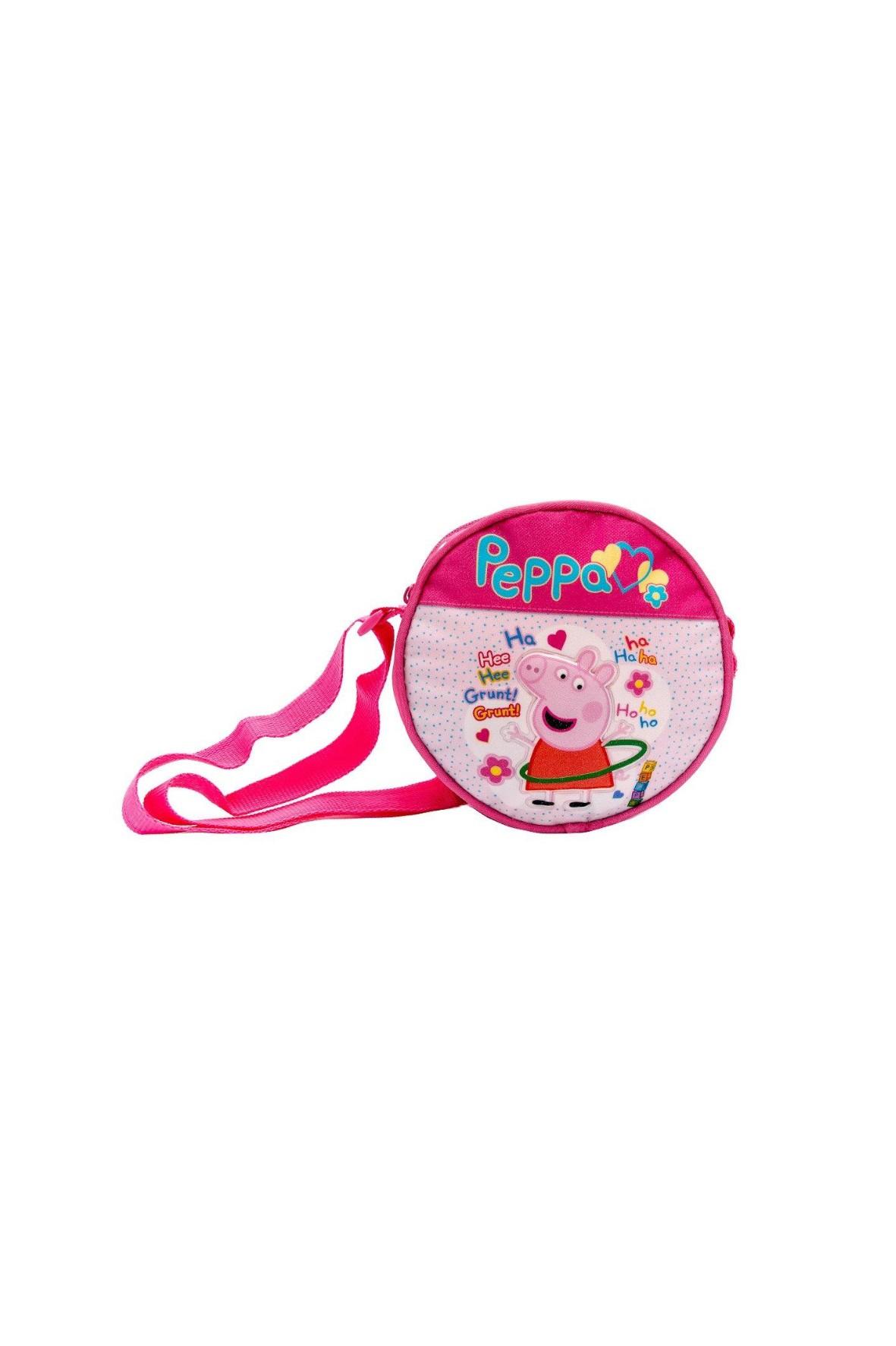 Torebka  dziewczęca okrągła - różowa  -Świnka Peppa