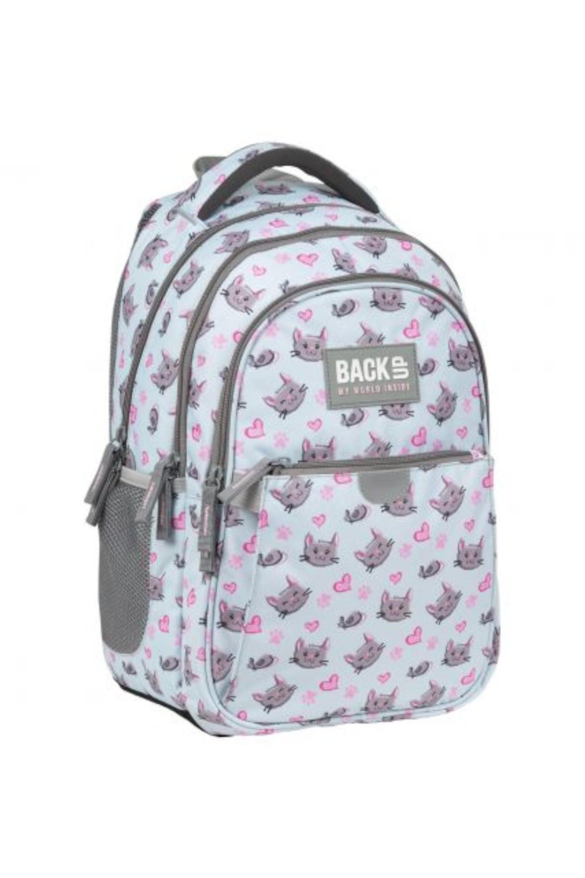 Plecak szkolny dla dziewczynki- Kotki