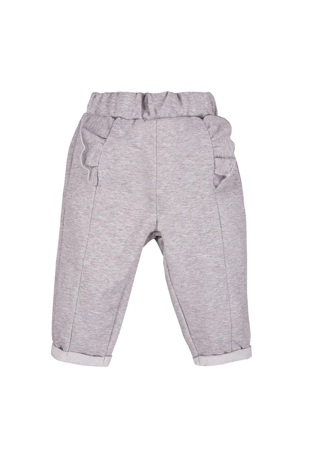 Bawełniane spodnie niemowlęce - szare