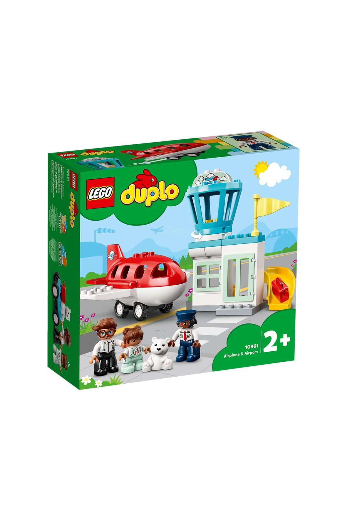 LEGO DUPLO Town - Samolot i lotnisko 10961-  28 elementów, wiek 2+