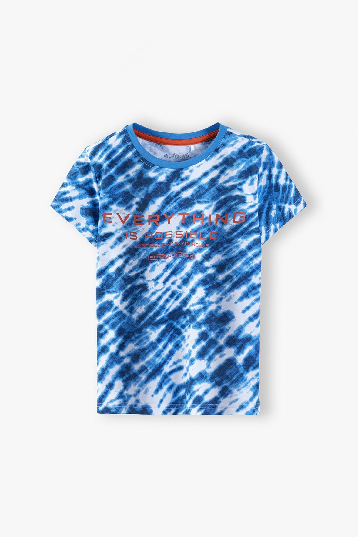 T-shirt chłopięcy w kolorze niebieskim Aqua